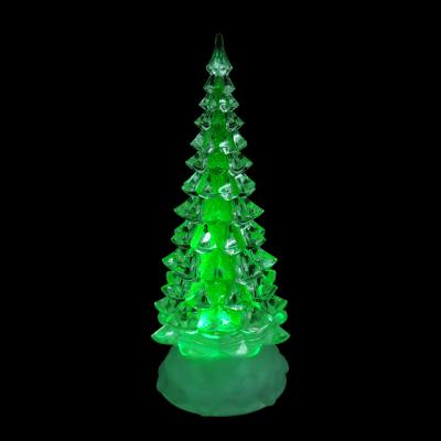 N01-025 СНОУ БУМ Светильник LED, пластик, в виде елки, 24,5х9см, 3хААА, арт 2