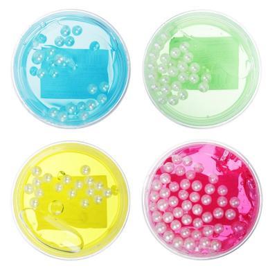 218-026 Слайм с жемчужными бусинами, 65гр, пластик, полимер, 2-4 цвета