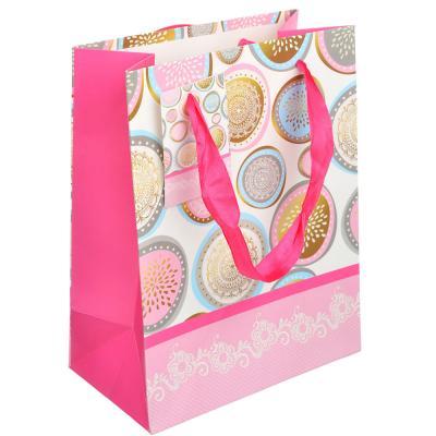 507-896 Пакет подарочный, 18х23х10см, высококачественная бумага, с глиттером, 4 дизайна, арт 111
