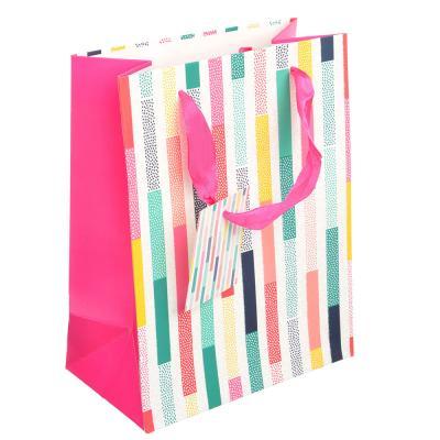 507-897 Пакет подарочный, 18х23х10см,высококачественная бумага, с глиттером, 4 дизайна, арт 112