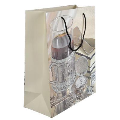 507-900 Пакет подарочный, 26х32х12 см, высококачественная бумага, с глиттером, 4 дизайна, арт 115