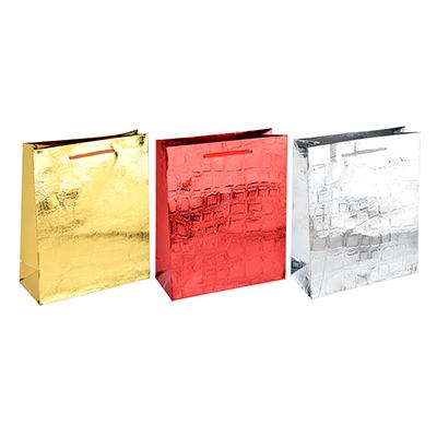507-908 Пакет подарочный, 26х32х10 см, высококачественная бумага, 3 цвета, арт 121