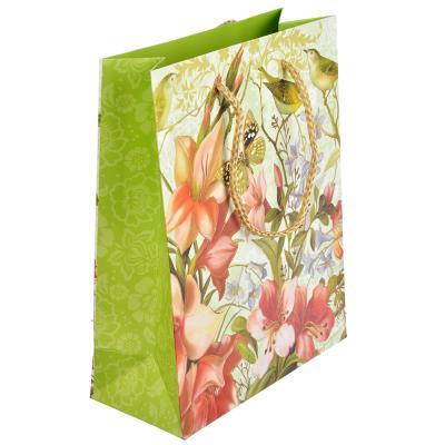 507-912 Пакет подарочный, 18х23х8 см, высококачественная бумага, с блеском, 4 дизайна, арт 125