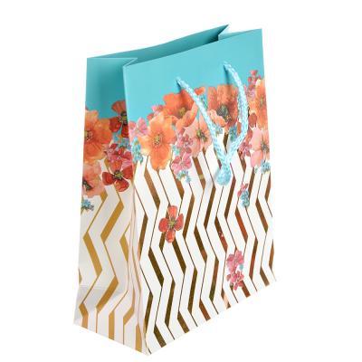 507-914 Пакет подарочный, 18х23х8 см, высококачественная бумага, с глиттером, 4 дизайна, арт 127