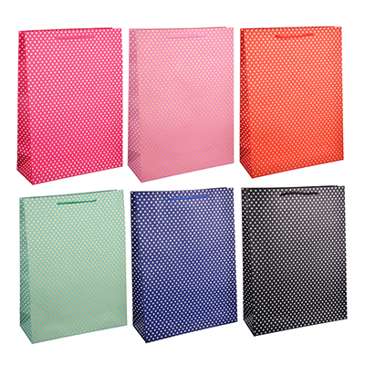 507-917 Пакет подарочный, 31х42х12 см, высококачественная бумага с блеском, 6 цветов, арт 130