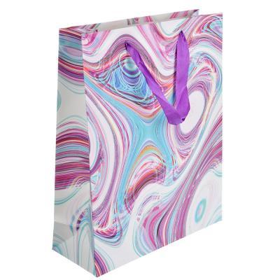 507-925 Пакет подарочный, 26х32х10 см, высококачественная бумага с глиттером, 4 дизайна, арт 137