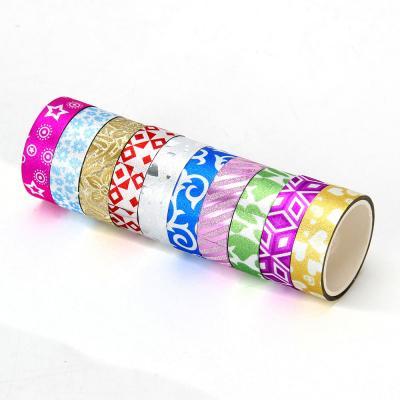 505-010 Набор клейкой ленты с блеском, ПВХ,1,5х270 см, набор 5 шт