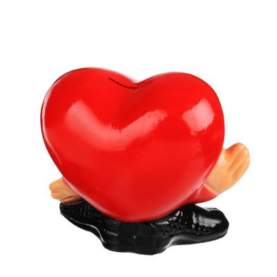 511-168 Копилка в виде сердца, 20х17 см, гипс, арт.290