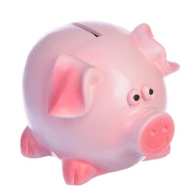 511-179 Копилка свинья № 2, 10 см, гипс