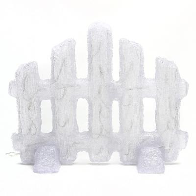 N01-029 СНОУ БУМ Фигура Новогодняя, акрил Заборчик LED30 (от 3xАА), 50x40см