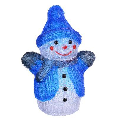 N01-031 СНОУ БУМ Фигура Новогодняя акрил Снеговик LED24 (от 3xАА), 17x14x28см