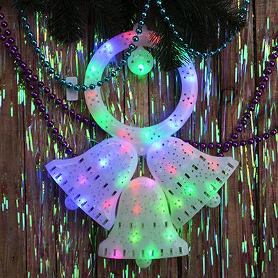 N01-041 СНОУ БУМ Панно LED Три Колокольчика, RG/RB, авторежим, 220В, 46х37см