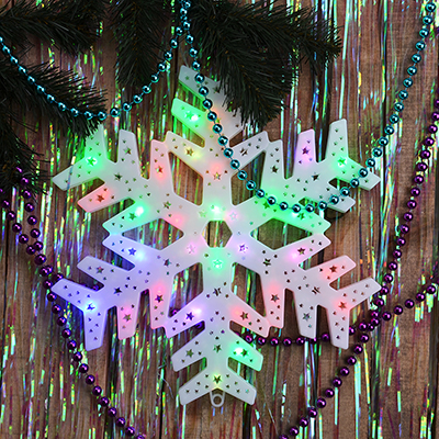 N01-042 СНОУ БУМ Панно LED Снежинка, RG/RB, авторежим, 220В, 39х39см