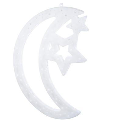 N01-044 СНОУ БУМ Панно LED Полумесяц со звездой, RG/RB, авторежим, 220В, 39х27см