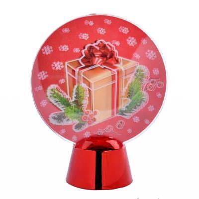 N01-051 СНОУ БУМ Светильник LED Голография Подарок, h=11см, (от батареек)