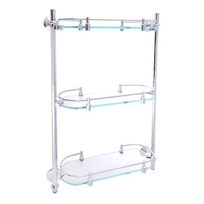 S05-038 SonWelle Полка для ванной комнаты тройная, стекло, HS-5603