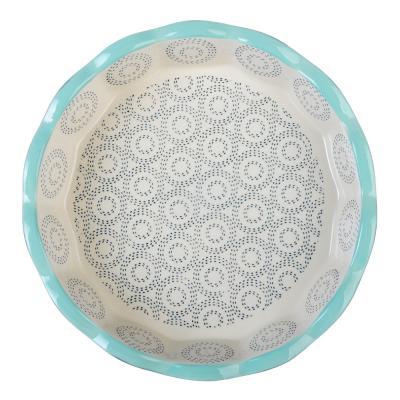 826-274 Форма для запекания MILLIMI, d. 22 см, круглая, керамика, аквамарин