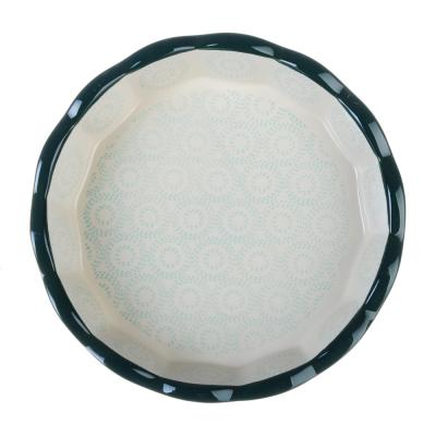 826-275 MILLIMI Форма для запекания и сервировки круглая, керамика, 22х4,5см, бирюзовый