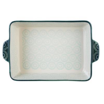 826-277 Форма для запекания MILLIMI, 27,5х17,5х5,5 см, керамика, бирюзовая