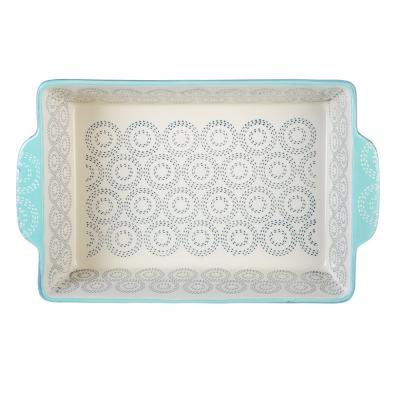 826-279 Форма для запекания MILLIMI, 31х20х6,5 см, керамика, аквамарин