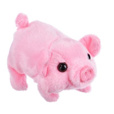 "394-114 СНОУ БУМ Музыкальная игрушка ""Свинка"", движение, звук,  17х 9 х10 см, 2 х 1,5 АА"