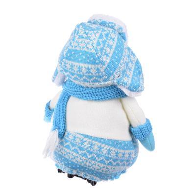 """394-116 СНОУ БУМ Музыкальная игрушка """"Снеговик"""", поет, танцует, 21x14x40см,  3 х АА"""