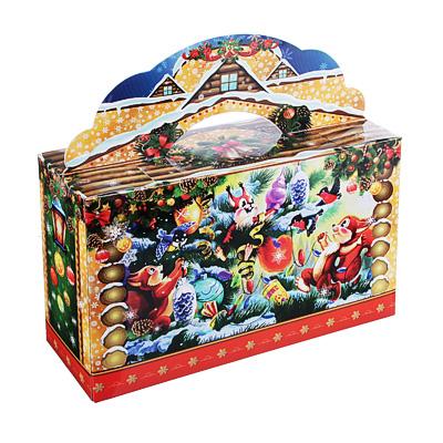 """369-351 Коробка для конфет """"Портфель"""", 27,3х8,9х16,8 см"""