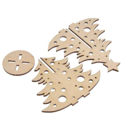 386-136 Елочка с шарами, фанера 3 мм, 10x11x0,3см