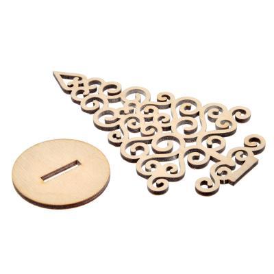 386-137 Елочка ажурная, фанера 3 мм, 12х7,4х0,2см