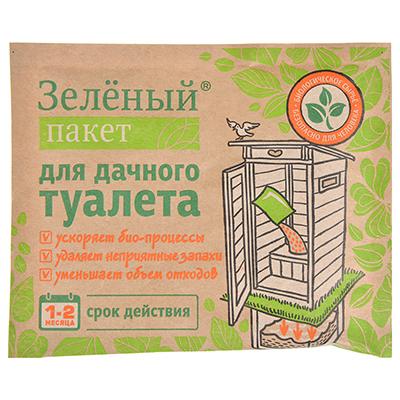 189-008 Пакет зеленый для дачного туалета 112, 30гр, порошок