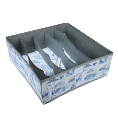457-412 VETTA Город Органайзер 5 ячеек для нижнего белья с крышкой, 32х32х10см, спанбонд, пвх