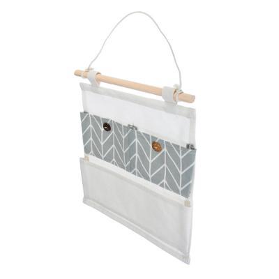 457-417 VETTA Подвесной кофр, 3 кармана, 25х32см, лен, полиэтилен, 2 дизайна