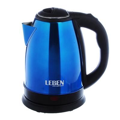 Чайник электрический 1,8л, 1500Вт, нерж. сталь, синий