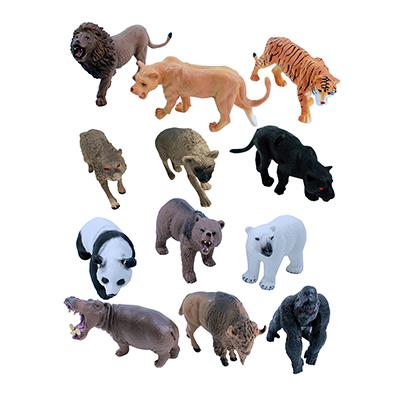 """274-119 Фигурка """"Дикие животные"""", ПВХ, 12х10х2,5см, 12 дизайнов"""