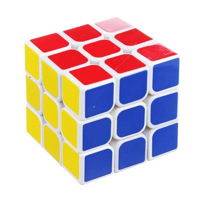 "295-146 Кубик-головоломка ""Собери цвета"" белая, пластик ,5,6х5,6х5,6см"