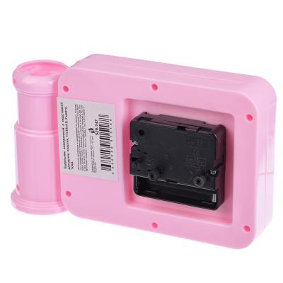 529-147 Будильник электронный с подставкой для ручек, пластик, 17х10х4,5, 2 цвета, 1хАА