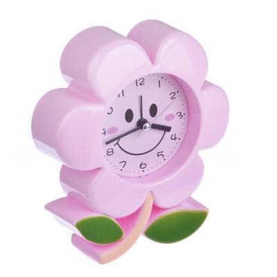 529-148 Будильник электронный в виде цветка, пластик, 13,7х12,3х4,1 2 цвета, 1 хАА