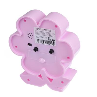 529-148 Будильник электронный в виде цветка, пластик, 13,7х12,3х4,1 см, 1 хАА, 2 цвета