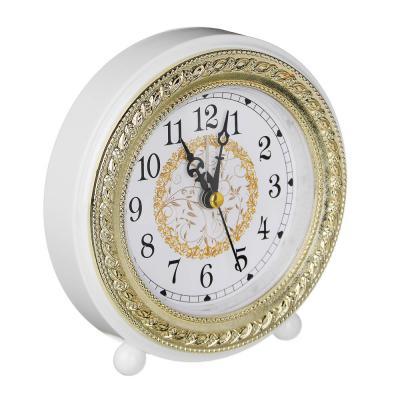 529-150 Будильник электронный круглый , пластик, 14х12,8х4,5 см, 4 цвета, 1хАА