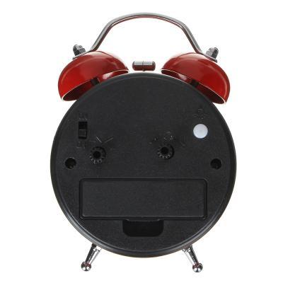 529-153 Будильник электронный с сердцем, металл, 12,5х8,2х5,5 см, 1хАА