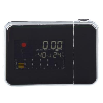 529-157 Проекционные часы-будильник, пластик, 15х11х2,7 см, 2хААA, 2 цвета