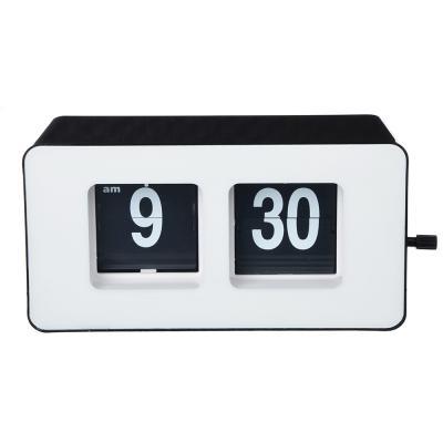 529-158 Часы настольные с перелистывающимся циферблатом, пластик, 17,8х9,3х6,8 см, 1хАА