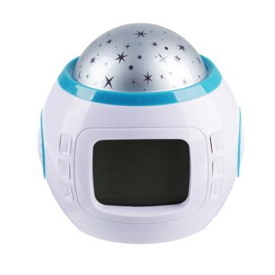 529-160 Часы-будильник с проектором звездного неба, пластик, 10,4х8,8х10,3 см, 3хААА