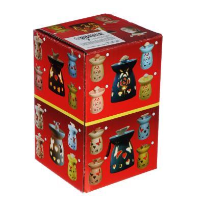 536-318 Аромалампа в виде дома, керамика, 13,5х10,5х10 см, 2 цвета
