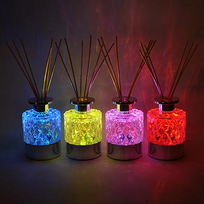 412-008 LADECOR Ароманабор 150мл с палочками и LED подсветкой, 4 аромата, 1 х CR2032, 7 режимов свечения