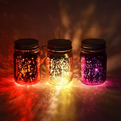 544-021 Светильник LED декоративный, стекло, 5х8 см, 1xCR2032, 3 цвета, 1 режим свечения