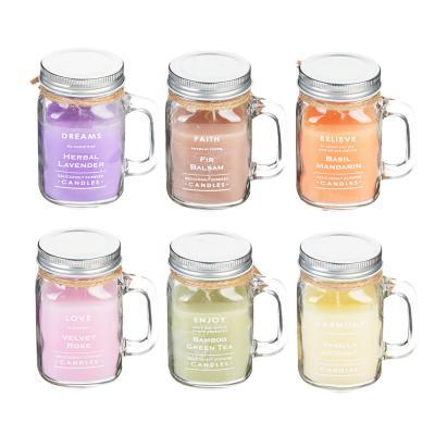 508-547 Свеча ароматическая, в стекле, 9,4х7х11,3 см, 6 ароматов