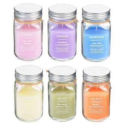 508-548 Свеча ароматическая, в стекле, 8х13,5 см, 6 ароматов