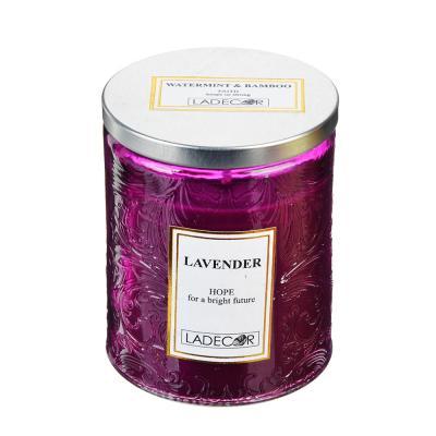 508-549 LADECOR Свеча ароматическая, в стекле, 7х8,7 см, 6 ароматов