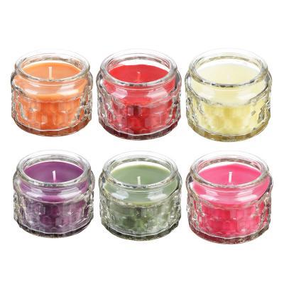 508-550 Свеча ароматическая, в стекле, 7,5х5,1 см, 6 ароматов